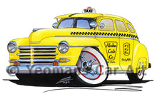Load image into Gallery viewer, Plymouth (1948) Hawaii Taxi - Caricature Car Art Print