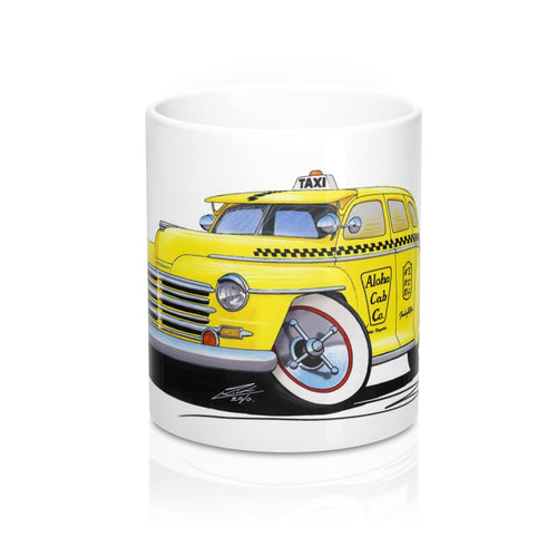 Plymouth (1948) Hawaii Taxi - Caricature Car Art Coffee Mug