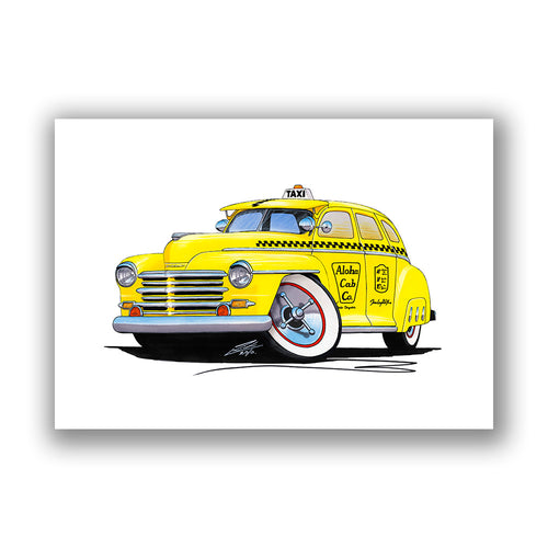 Plymouth (1948) Hawaii Taxi - Caricature Car Art Print