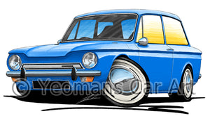 Hillman Imp - Caricature Car Art Print