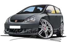 Load image into Gallery viewer, Honda Civic Type-R (Mk2)(EP3) - Caricature Car Art Print