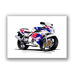 Honda CBR250RR - Caricature Bike Art Print