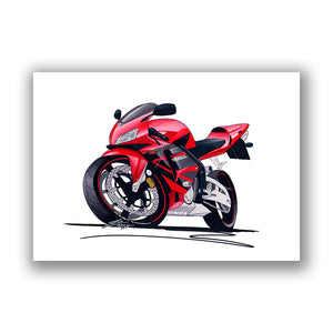 Honda CBR600RR - Caricature Bike Art Print