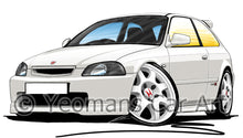 Load image into Gallery viewer, Honda Civic Type-R (Mk1)(EK9) - Caricature Car Art Print