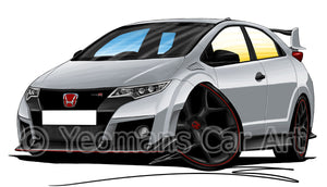 Honda Civic Type-R (Mk4)(FK2) - Caricature Car Art Print