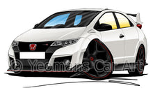 Load image into Gallery viewer, Honda Civic Type-R (Mk4)(FK2) - Caricature Car Art Print