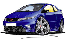 Load image into Gallery viewer, Honda Civic Type-R (Mk3)(FN2) - Caricature Car Art Print