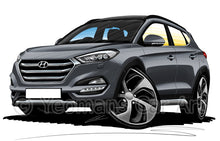 Load image into Gallery viewer, Hyundai Tucson (Mk3) - Caricature Car Art Print
