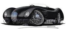 Load image into Gallery viewer, Jaguar C-Type - Caricature Car Art Coffee Mug