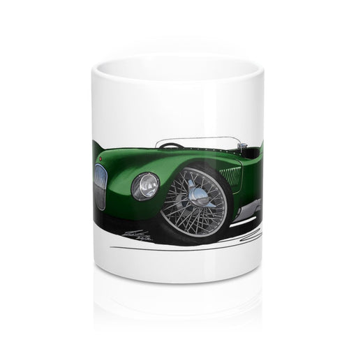 Jaguar C-Type - Caricature Car Art Coffee Mug