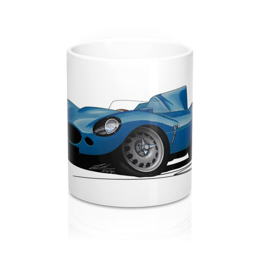 Jaguar D-Type - Caricature Car Art Coffee Mug