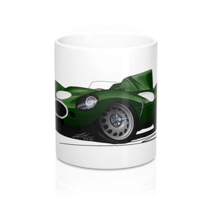 Jaguar D-Type (Racer) - Caricature Car Art Coffee Mug