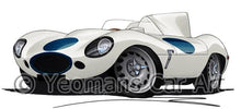 Load image into Gallery viewer, Jaguar D-Type (Racer) - Caricature Car Art Coffee Mug