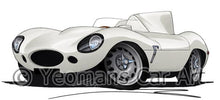 Load image into Gallery viewer, Jaguar D-Type - Caricature Car Art Coffee Mug