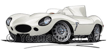 Load image into Gallery viewer, Jaguar D-Type - Caricature Car Art Print
