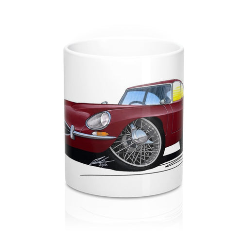 Jaguar E-Type S1 - Caricature Car Art Coffee Mug