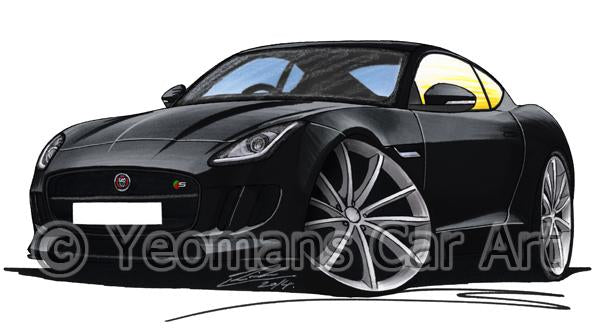Jaguar F-Type Coupe - Caricature Car Art Coffee Mug