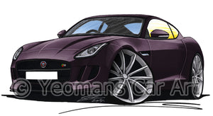Jaguar F-Type Coupe - Caricature Car Art Print