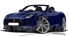 Load image into Gallery viewer, Jaguar F-Type - Caricature Car Art Print