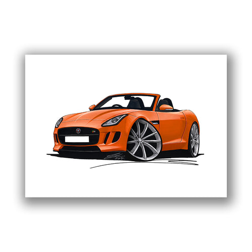 Jaguar F-Type - Caricature Car Art Print