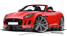 Load image into Gallery viewer, Jaguar F-Type - Caricature Car Art Coffee Mug