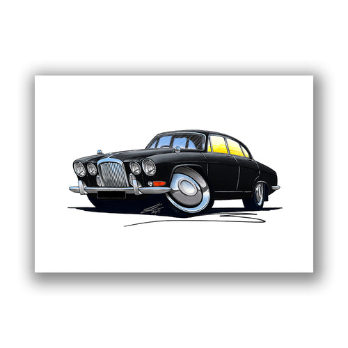 Jaguar MkX - Caricature Car Art Print
