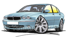 Load image into Gallery viewer, Jaguar X-Type - Caricature Car Art Print