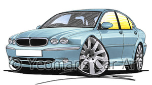 Jaguar X-Type - Caricature Car Art Print