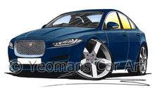 Load image into Gallery viewer, Jaguar XE - Caricature Car Art Print