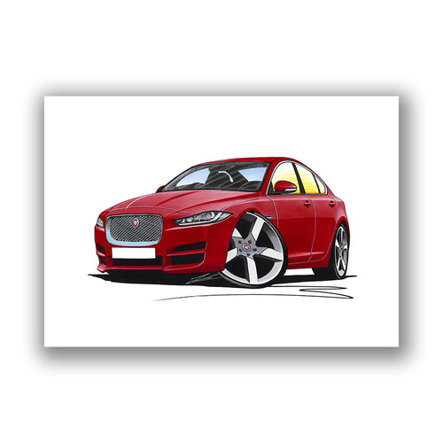 Jaguar XE - Caricature Car Art Print