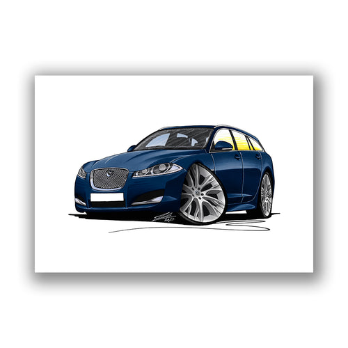 Jaguar XF Sportbrake - Caricature Car Art Print