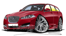 Load image into Gallery viewer, Jaguar XF Sportbrake - Caricature Car Art Print