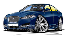 Load image into Gallery viewer, Jaguar XF (Facelift) - Caricature Car Art Print