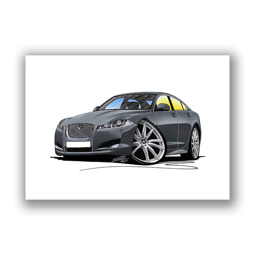 Jaguar XF (Facelift) - Caricature Car Art Print