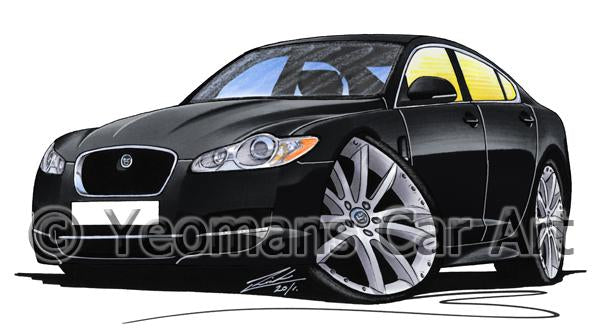 Jaguar XF - Caricature Car Art Coffee Mug
