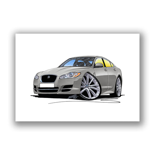 Jaguar XF - Caricature Car Art Print