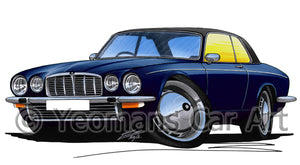 Jaguar XJ-C - Caricature Car Art Print