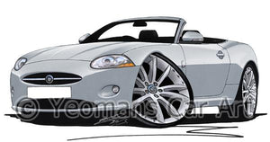 Jaguar XK Convertible - Caricature Car Art Coffee Mug