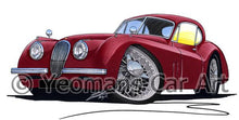 Load image into Gallery viewer, Jaguar XK120 Coupe - Caricature Car Art Coffee Mug