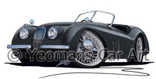 Load image into Gallery viewer, Jaguar XK120 Roadster - Caricature Car Art Print