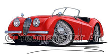 Load image into Gallery viewer, Jaguar XK120 Roadster - Caricature Car Art Coffee Mug
