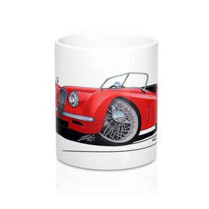 Jaguar XK120 Roadster - Caricature Car Art Coffee Mug