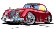 Load image into Gallery viewer, Jaguar XK150 Coupe - Caricature Car Art Print