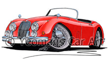 Load image into Gallery viewer, Jaguar XK150 Roadster - Caricature Car Art Print