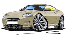 Load image into Gallery viewer, Jaguar XK - Caricature Car Art Print