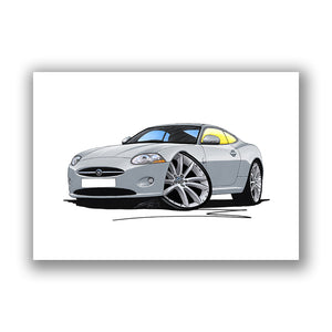Jaguar XK - Caricature Car Art Print