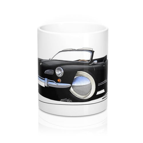 VW Karmann Ghia Cabriolet - Caricature Car Art Coffee Mug
