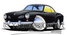 Load image into Gallery viewer, VW Karmann Ghia - Caricature Car Art Coffee Mug