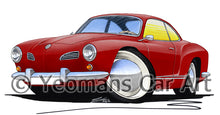Load image into Gallery viewer, VW Karmann Ghia - Caricature Car Art Print