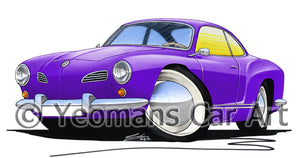 VW Karmann Ghia - Caricature Car Art Print